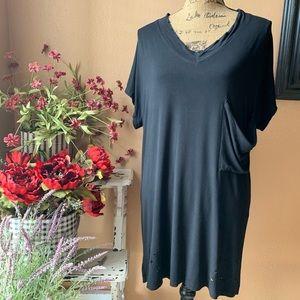 POL distressed t-shirt tunic/mini dress